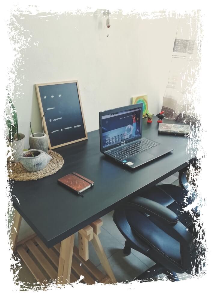 Web designer at home